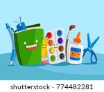 a set of cute vector... | Shutterstock .eps vector #774482281