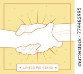 helping each other vector... | Shutterstock .eps vector #774482995