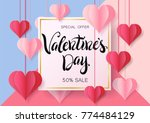 happy valentine's day design... | Shutterstock .eps vector #774484129