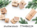 secret santa christmas game.... | Shutterstock . vector #774486124