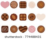 a set of assorted chocolate