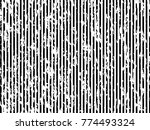 grunge white and black stripes. ... | Shutterstock .eps vector #774493324