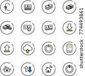 line vector icon set   pound...   Shutterstock .eps vector #774493861