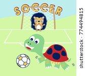 Animals Soccer Cartoon Vector