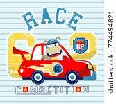 car race cartoon vector | Shutterstock .eps vector #774494821
