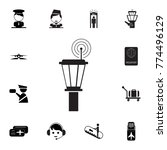 airport control tower icon. set ...