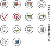 line vector icon set   sign... | Shutterstock .eps vector #774497551