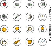 line vector icon set  ... | Shutterstock .eps vector #774498139