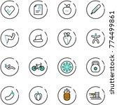 line vector icon set   heart... | Shutterstock .eps vector #774499861