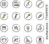 line vector icon set   baggage... | Shutterstock .eps vector #774499975