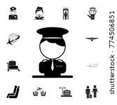 pilot icon. set of airport... | Shutterstock .eps vector #774506851