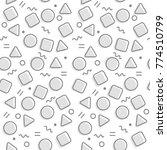 memphis pattern background | Shutterstock .eps vector #774510799
