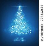 abstract christmas bokeh blue... | Shutterstock .eps vector #774512689