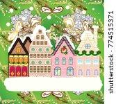 christmas landscape flat.... | Shutterstock .eps vector #774515371