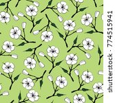 seamless floral pattern with... | Shutterstock .eps vector #774515941