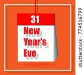 happy new year s eve ... | Shutterstock .eps vector #774516799