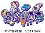 font design for word space... | Shutterstock .eps vector #774517609