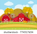 road and field on the farm... | Shutterstock .eps vector #774517654