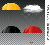 umbrella in three colors and... | Shutterstock .eps vector #774517699