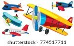 different types of airplanes... | Shutterstock .eps vector #774517711
