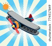 background design with airplane ... | Shutterstock .eps vector #774517849