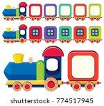 wooden train in different... | Shutterstock .eps vector #774517945