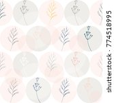 seamless floral pattern with... | Shutterstock .eps vector #774518995