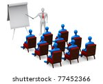 group of students and teacher... | Shutterstock . vector #77452366