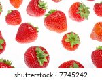 fresh strawberry on a white... | Shutterstock . vector #7745242