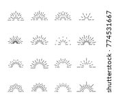 firework line icon set  vector... | Shutterstock .eps vector #774531667