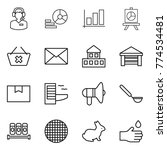 thin line icon set   call... | Shutterstock .eps vector #774534481