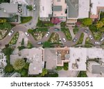 Aerial View Of Lombard Street...