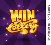 win the lottery banner. vector... | Shutterstock .eps vector #774538891