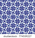 abstract blue and white pattern ... | Shutterstock .eps vector #774539227