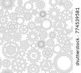 illustration. mechanical grey... | Shutterstock . vector #774539581