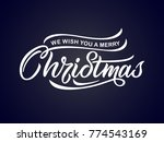 merry christmas vector text... | Shutterstock .eps vector #774543169