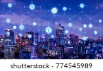 smart city concept. iot... | Shutterstock . vector #774545989