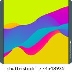 colorful abstract background.... | Shutterstock .eps vector #774548935