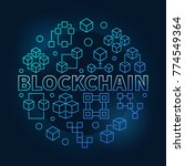 blockchain round blue vector... | Shutterstock .eps vector #774549364
