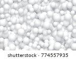 white balls background. vector... | Shutterstock .eps vector #774557935