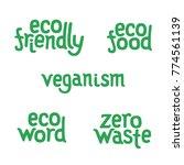 lettering for vegan sticker  ...   Shutterstock .eps vector #774561139