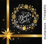 winter sale poster in... | Shutterstock .eps vector #774568351