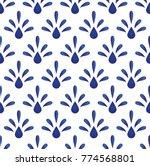 blue floral ceramic pattern... | Shutterstock .eps vector #774568801