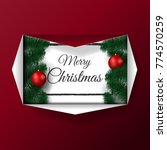 christmas card with realistic...   Shutterstock .eps vector #774570259