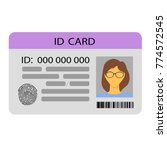 the idea of personal identity. ... | Shutterstock .eps vector #774572545