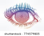 beautiful realistic psychedelic ... | Shutterstock .eps vector #774579805