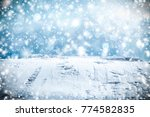 winter background with free... | Shutterstock . vector #774582835