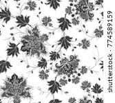 seamless pattern. brilliant... | Shutterstock . vector #774589159