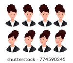 a set of emotions. expression... | Shutterstock .eps vector #774590245