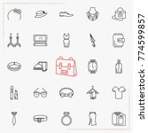 fashion line icons set | Shutterstock .eps vector #774599857